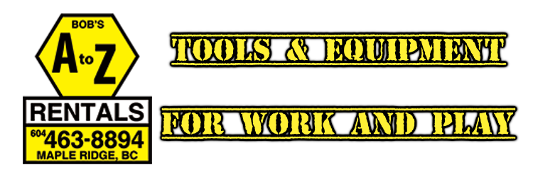 TOOLS & EQUIPMENT RENTALS CALLOUT A-Z RENTALS